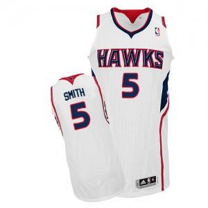 Atlanta Hawks Josh Smith #5 Home Authentic Maillot d'équipe de NBA - Blanc pour Homme