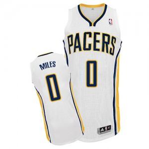 Indiana Pacers #0 Adidas Home Blanc Authentic Maillot d'équipe de NBA pour pas cher - C.J. Miles pour Homme