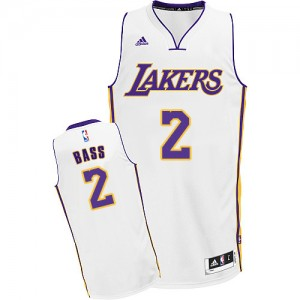 Maillot NBA Swingman Brandon Bass #2 Los Angeles Lakers Alternate Blanc - Homme