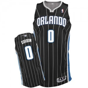 Orlando Magic #0 Adidas Alternate Noir Authentic Maillot d'équipe de NBA Magasin d'usine - Aaron Gordon pour Homme