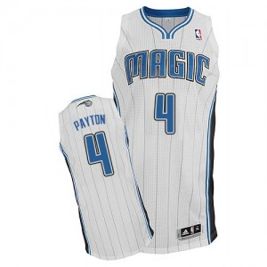 Maillot NBA Orlando Magic #4 Elfrid Payton Blanc Adidas Authentic Home - Homme