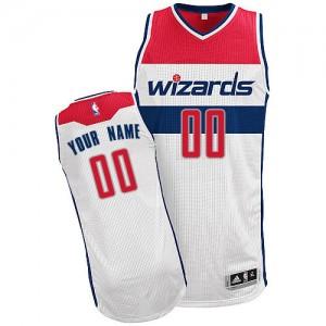 Maillot NBA Washington Wizards Personnalisé Authentic Blanc Adidas Home - Homme