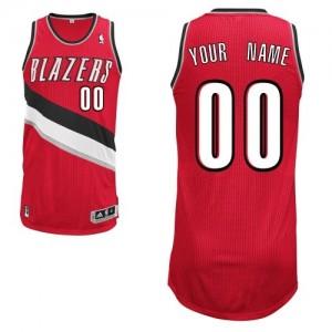 Maillot NBA Rouge Authentic Personnalisé Portland Trail Blazers Alternate Femme Adidas