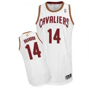 Maillot NBA Authentic Terrell Brandon #14 Cleveland Cavaliers Home Blanc - Homme