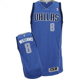 Dallas Mavericks Deron Williams #8 Road Authentic Maillot d'équipe de NBA - Bleu royal pour Homme