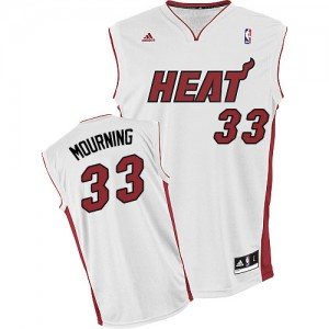 Maillot NBA Swingman Alonzo Mourning #33 Miami Heat Home Blanc - Homme