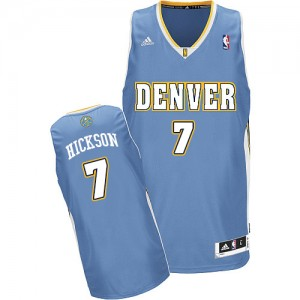 Maillot NBA Bleu clair JJ Hickson #7 Denver Nuggets Road Swingman Homme Adidas