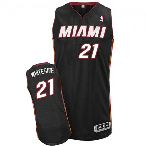 Maillot NBA Authentic Hassan Whiteside #21 Miami Heat Road Noir - Enfants