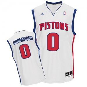 Detroit Pistons Andre Drummond #0 Home Swingman Maillot d'équipe de NBA - Blanc pour Homme