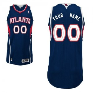 Maillot NBA Bleu marin Authentic Personnalisé Atlanta Hawks Road Enfants Adidas