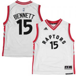 Maillot Adidas Blanc Authentic Toronto Raptors - Anthony Bennett #15 - Homme