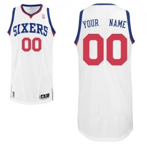 Maillot NBA Blanc Authentic Personnalisé Philadelphia 76ers Home Enfants Adidas