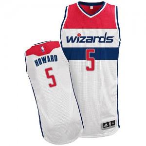Maillot NBA Blanc Juwan Howard #5 Washington Wizards Home Authentic Homme Adidas