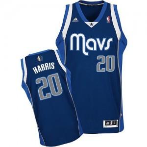Dallas Mavericks #20 Adidas Alternate Bleu marin Swingman Maillot d'équipe de NBA en ligne - Devin Harris pour Homme
