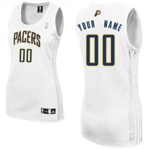 Maillot NBA Authentic Personnalisé Indiana Pacers Home Blanc - Femme