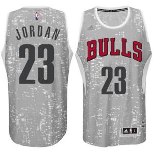 Chicago Bulls #23 Adidas City Light Gris Authentic Maillot d'équipe de NBA la vente - Michael Jordan pour Homme