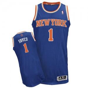 New York Knicks #1 Adidas Road Bleu royal Authentic Maillot d'équipe de NBA prix d'usine en ligne - Alexey Shved pour Homme