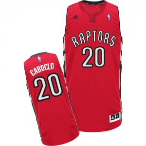 Maillot NBA Rouge Bruno Caboclo #20 Toronto Raptors Road Swingman Homme Adidas