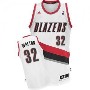 Portland Trail Blazers #32 Adidas Home Blanc Swingman Maillot d'équipe de NBA en soldes - Bill Walton pour Homme