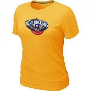 T-shirt principal de logo New Orleans Pelicans NBA Big & Tall Jaune - Femme