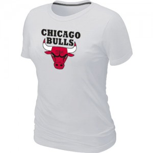 T-shirt principal de logo Chicago Bulls NBA Big & Tall Blanc - Femme
