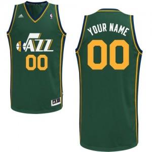 Maillot NBA Vert Authentic Personnalisé Utah Jazz Alternate Femme Adidas