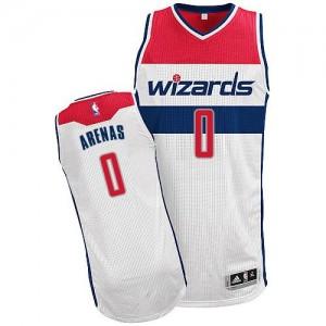 Washington Wizards Gilbert Arenas #0 Home Authentic Maillot d'équipe de NBA - Blanc pour Homme