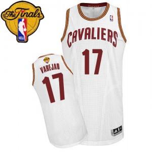 Cleveland Cavaliers Anderson Varejao #17 Home 2015 The Finals Patch Authentic Maillot d'équipe de NBA - Blanc pour Homme