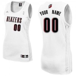 Maillot NBA Swingman Personnalisé Portland Trail Blazers Home Blanc - Femme