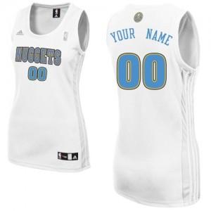 Denver Nuggets Swingman Personnalisé Home Maillot d'équipe de NBA - Blanc pour Femme