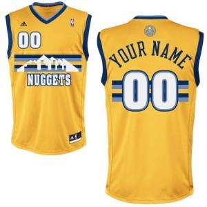 Denver Nuggets Personnalisé Adidas Alternate Or Maillot d'équipe de NBA sortie magasin - Swingman pour Enfants