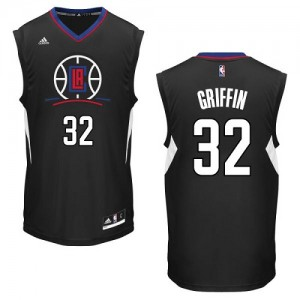Maillot NBA Noir Blake Griffin #32 Los Angeles Clippers Alternate Authentic Homme Adidas
