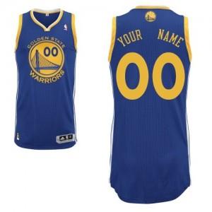 Maillot NBA Authentic Personnalisé Golden State Warriors Road Bleu royal - Homme