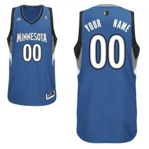 Maillot NBA Minnesota Timberwolves Personnalisé Swingman Slate Blue Adidas Road - Enfants