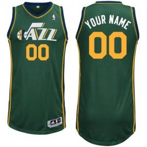 Maillot NBA Utah Jazz Personnalisé Authentic Vert Adidas Alternate - Homme