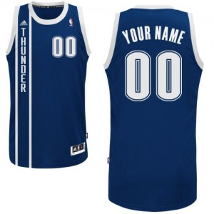 Maillot NBA Bleu marin Swingman Personnalisé Oklahoma City Thunder Alternate Enfants Adidas