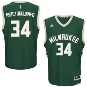 Milwaukee Bucks #34 Adidas Road Vert Swingman Maillot d'équipe de NBA boutique en ligne - Giannis Antetokounmpo pour Homme