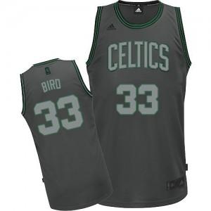 Maillot Adidas Gris Graystone Fashion Swingman Boston Celtics - Larry Bird #33 - Homme
