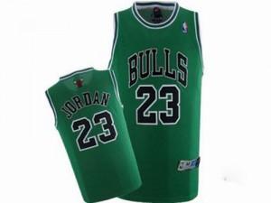 Maillot NBA Authentic Michael Jordan #23 Chicago Bulls Throwback Vert - Homme