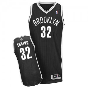 Maillot NBA Noir Julius Erving #32 Brooklyn Nets Road Authentic Homme Adidas
