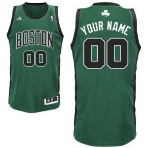 Maillot Boston Celtics NBA Alternate Vert (No. noir) - Personnalisé Swingman - Homme