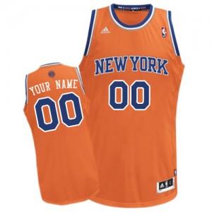 Maillot NBA Swingman Personnalisé New York Knicks Alternate Orange - Homme