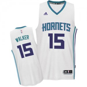 Maillot NBA Authentic Kemba Walker #15 Charlotte Hornets Home Blanc - Homme