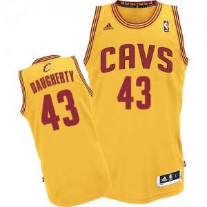 Maillot Adidas Or Alternate Authentic Cleveland Cavaliers - Brad Daugherty #43 - Homme