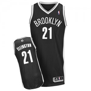 Maillot Authentic Brooklyn Nets NBA Road Noir - #21 Wayne Ellington - Homme