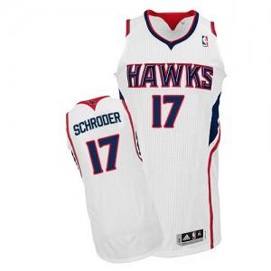 Maillot NBA Authentic Dennis Schroder #17 Atlanta Hawks Home Blanc - Homme