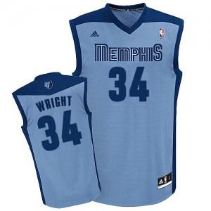 Maillot NBA Swingman Brandan Wright #34 Memphis Grizzlies Alternate Bleu clair - Homme