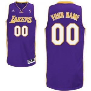 Los Angeles Lakers Personnalisé Adidas Road Violet Maillot d'équipe de NBA pas cher - Swingman pour Enfants