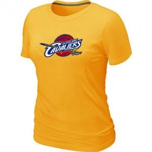 Cleveland Cavaliers Big & Tall Jaune T-Shirt d'équipe de NBA la meilleure qualité - pour Femme