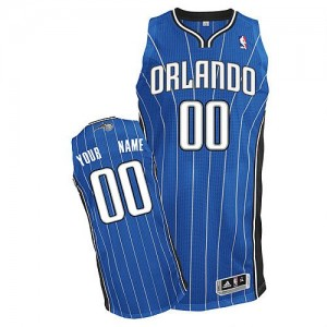 Maillot Adidas Bleu royal Road Orlando Magic - Authentic Personnalisé - Homme